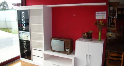 Oferta mueble TV lacado blanco