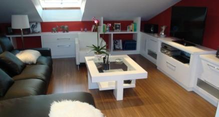 Reforma completa de sala de estar en Ático