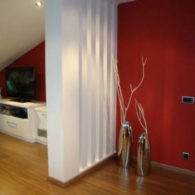 Reforma completa de sala de estar en Ático II