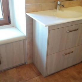 Muebles de baño a medida en formica