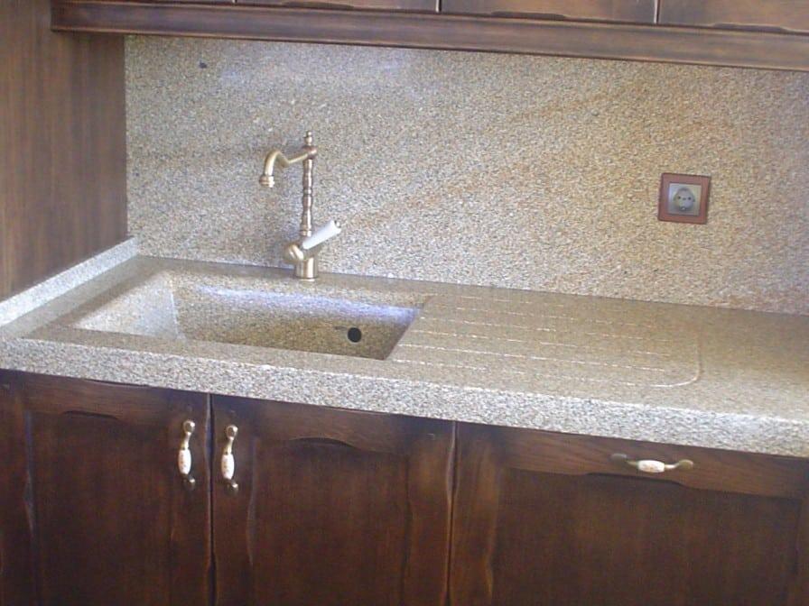 Fregaderos rusticos lavabos rsticos el cobre se ve - Fregaderos de piedra ...