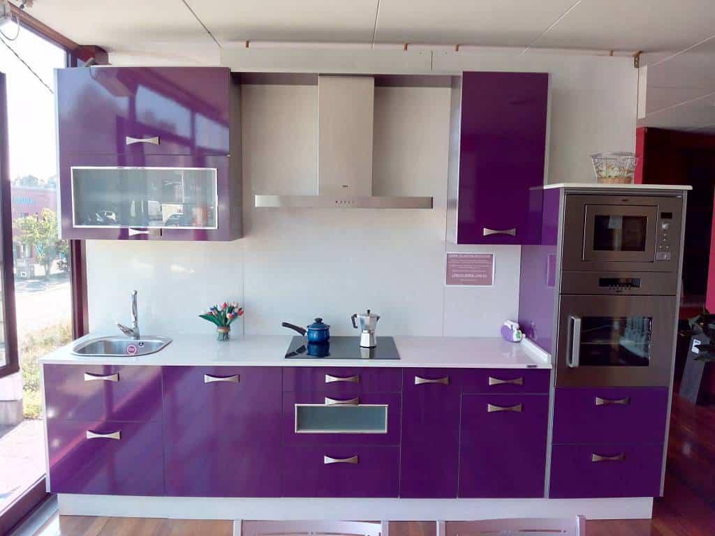 Colores de muebles de cocina muebles de cocina color rojo - Cocinas de colores ...