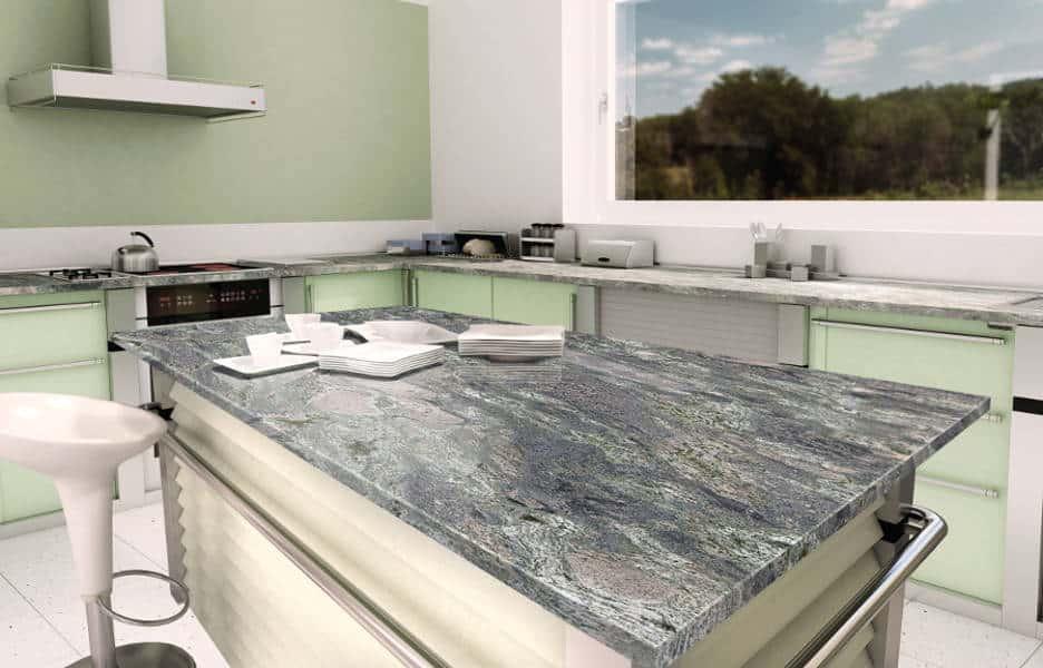 Encimera de piedras naturales for Granitos nacionales para cocinas